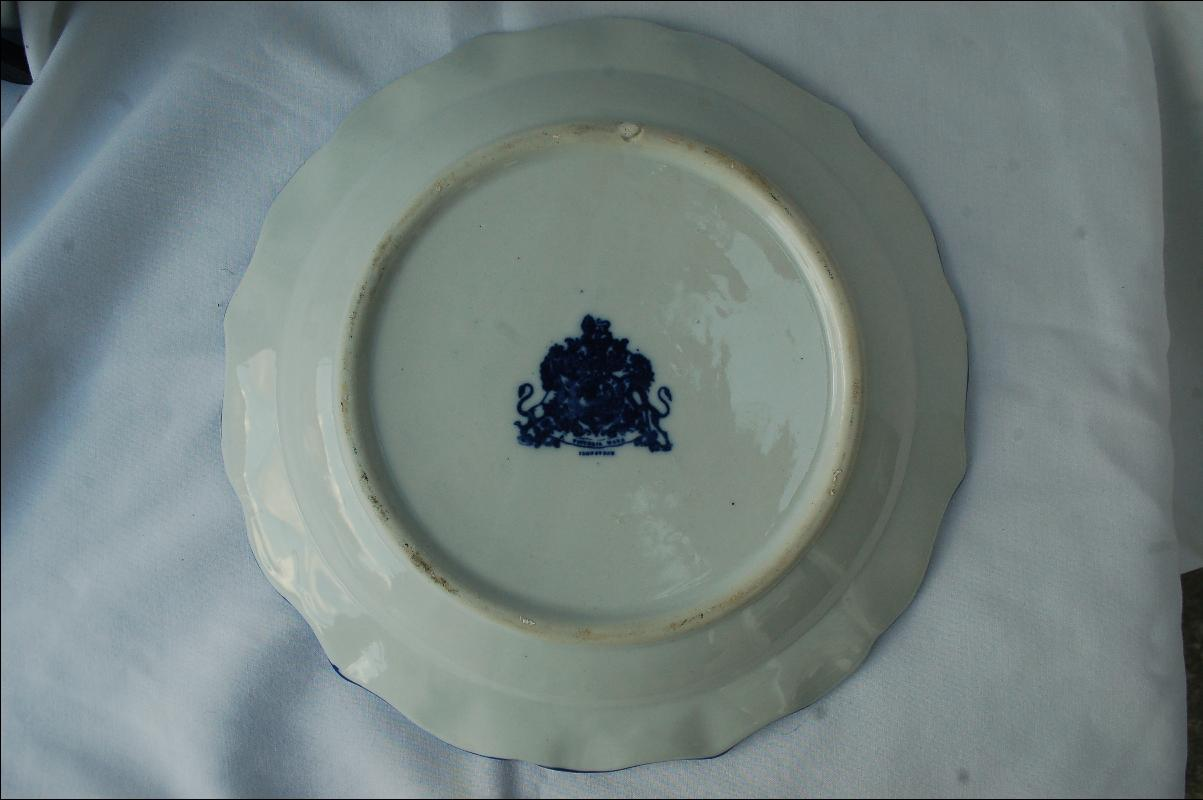 Flo Blue Scalloped Victoria Ware Plate