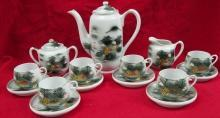 Beautifully Hand Painted Lithopane China 15 Piece Tea set