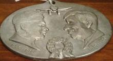 Wiley Post and Will Rogers 1935 Cast Aluminum Plaque