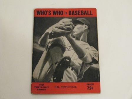 1946 Who's Who in Baseball Featuring Hal Newhouser and Philip Cavarreta