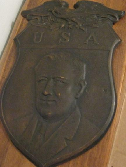 FDR Metal Shield Wall Plaque