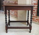 LARGE English Oak Barley Twist Hall Table