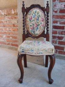 PETITE  English Mahogany Barley Twist Chair