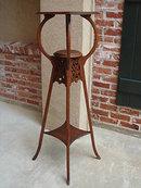 Antique French Mahogany Art Nouveau Selette