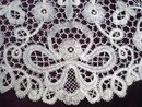 Antique Bobbin lace Tabletop for Lamp Table