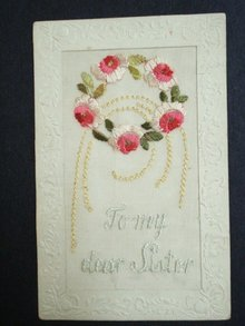 ww1 Silk Embroidered Postcard