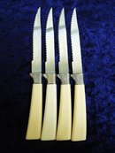 Sheffield Steak Knives Set of 4 Ivory Handles