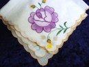 Swiss Embroidery Handkerchief Hankie Hanky