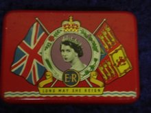 Souvenir Tin Box Coronation Queen Elizabeth