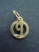 Pretty Pendant or Charm  Gold Monogram P