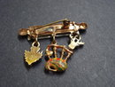 Antique Scottish Broach with 3 Pendants