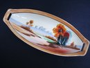 Antique Oval Dish Chikaramachi Hand Painted