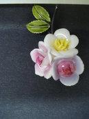 Coro Porcelain Broach Roses