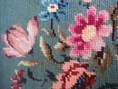 Antique Needlework Floral