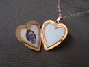 Antique Gold Locket  Heart Shaped