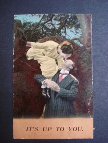 Antique Romantic  Postcard 1913