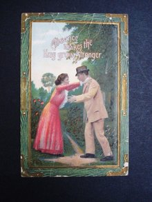 Antique Romantic  Postcard 1912