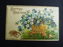 Antique Postcard Birthday Greetings