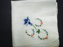 Handkerchief Petit Point Embroidery