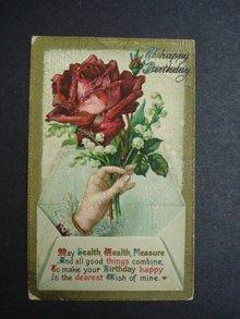 Antique Postcard Happy Birthday