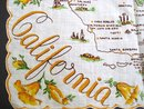 Souvenir Handkerchief Map of California