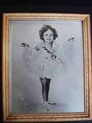 Shirley Temple Real Photo Framed with Glass