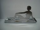 Art Deco Ashtray Chrome Nude Lady