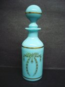 Perfume Bottle Blue Turquoise Glass