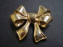 Vintage Broach Golden Bow