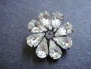 Vintage Crystal Broach  Brooch Pin