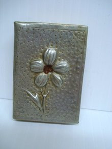 Antique Match Holder Pewter