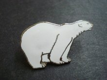 Figural Lapel Badge Polar Bear