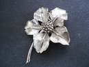 Marcel Boucher Brooch Poinsettia Gift Vintage