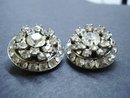 Exquisite Vintage Earrings Multi Level  Crystal Clear Rhinestone