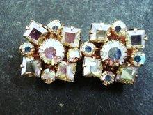 Precious Earrings Aurora Borealis Clip Style