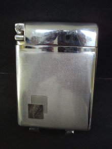 Chrome Cigarette Case / Lighter Willy