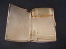 Antique Cigarette Case / Lighter  Black Leather