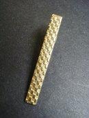 Deco Antique Tie Clip Gold Finish