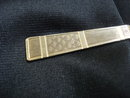 Antique Tie Clip  - Art Deco Style silver tone