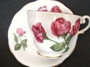 Royal Standard Teacup and Saucer Three Red Roses