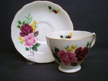 Queen Anne Teacup and Saucer Set