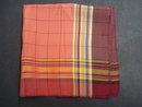 Vintage Handkerchief - Pure Silk - Plaid - Lovely Colours