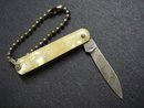 Antique Pocket Knife - Tiny - Mother of Pearl  Finish