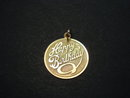 Stunning Vintage Gold Medallion Pendant  or Charm - Happy Birthday