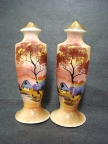 Antique Noritake Shakers - Japan