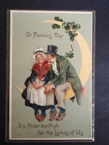 Antique Postcard St Patricks Day