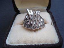 Unique Sterling Ring Art Deco Design Sterling Silver