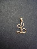 Gold Bracelet charm Monogram L