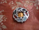 Fabulous Antique Scottish Silver and Agate Brooch