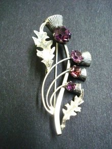 Fantastic Antique Scottish Thistle Sterling Silver  Brooch